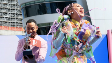 Photo of Sho Madjozi bag awards at 2019 BET Awards