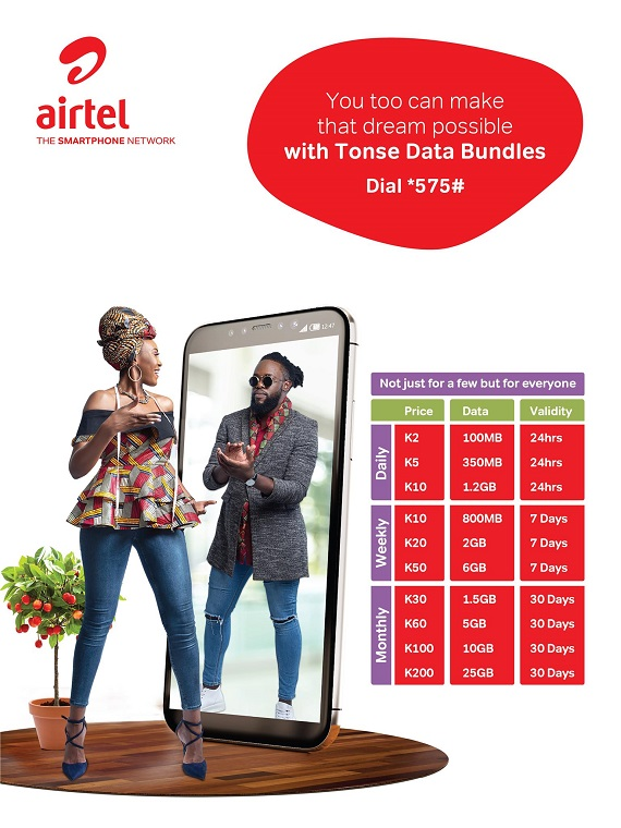 Airtel Tonse data bundles